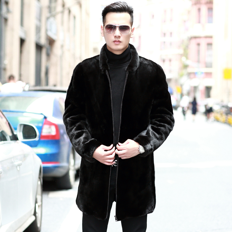 Real Fur Coat Natural Mink Fur Coat Winter Jacket Men Clothes Real Shearling Stand Collar Warm Outwear Veste Homme M168 YY660