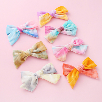 15cm Colorful Big Barrettes for Children Baby Girls Ribbon Hair Clip Bows Hair Accessories for Baby Princess Hair Grip 12 pcs korean style baby girl soft fur ball hair clip handmade barrettes head accessories new lovely gift for baby girls