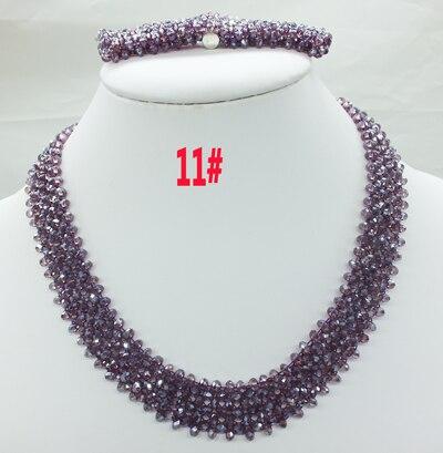 Новая цена-Африка, Нигерия, самый популярный ювелирный набор с кристаллами для невесты - Окраска металла: 11