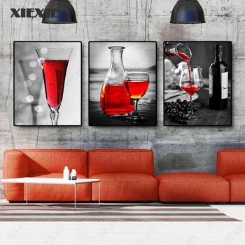 Dekoracje do jadalni wino plakat na płótnie Retro ściana wydruki artystyczne malarstwo dekoracyjne do klasycznej kuchni wystrój salonu tanie i dobre opinie XIEXIE CN (pochodzenie) Wydruki na płótnie Oddzielna PŁÓTNO Wodoodporny tusz Martwa natura bez ramki Nowoczesne LY2021040931