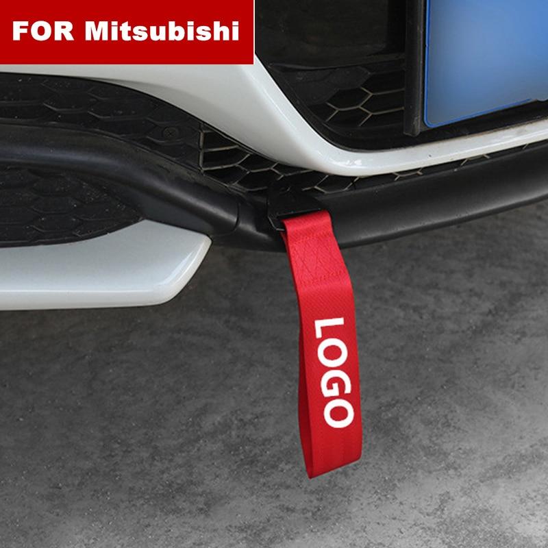 Модный новый автомобиль-Стайлинг тяжелый буксировочный трос автомобильный буксировочный ремень бампер прицеп веревка для Mitsubishi логотип