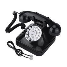 Estilo Retro Vintage antiguo teléfono fijo números almacenamiento Dial Retro teléfono fijo