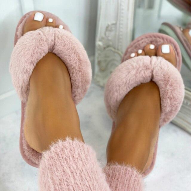 Chinelos macios quentes das senhoras das celebridades do sexo feminino flip flops corrediças de assoalho interior 2