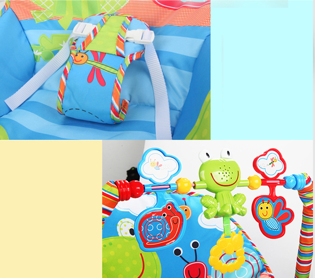 Baby Electric Cradle Swing For Newborn Metal Rocking Chair with Light Music Player Multi-function Baby Bassinet Cradle Kids 4