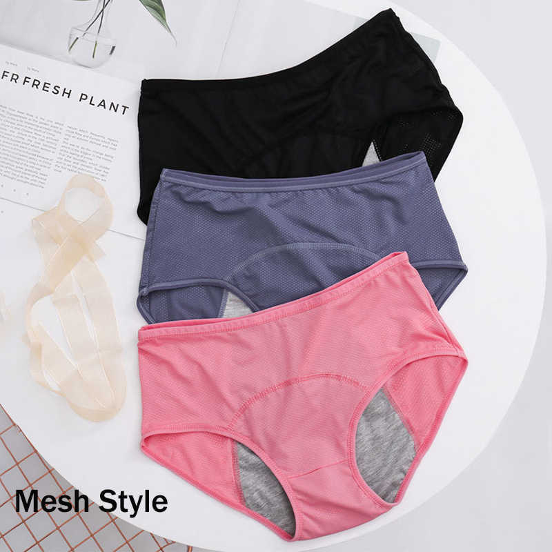 L-7XL Pakaian Dalam Wanita Leak Proof Celana Dalam Menstruasi Kapas Antibakteri Fisiologis Celana Dalam Wanita Tinggi Pinggang Bentuk Celana Pakaian Dalam Wanita
