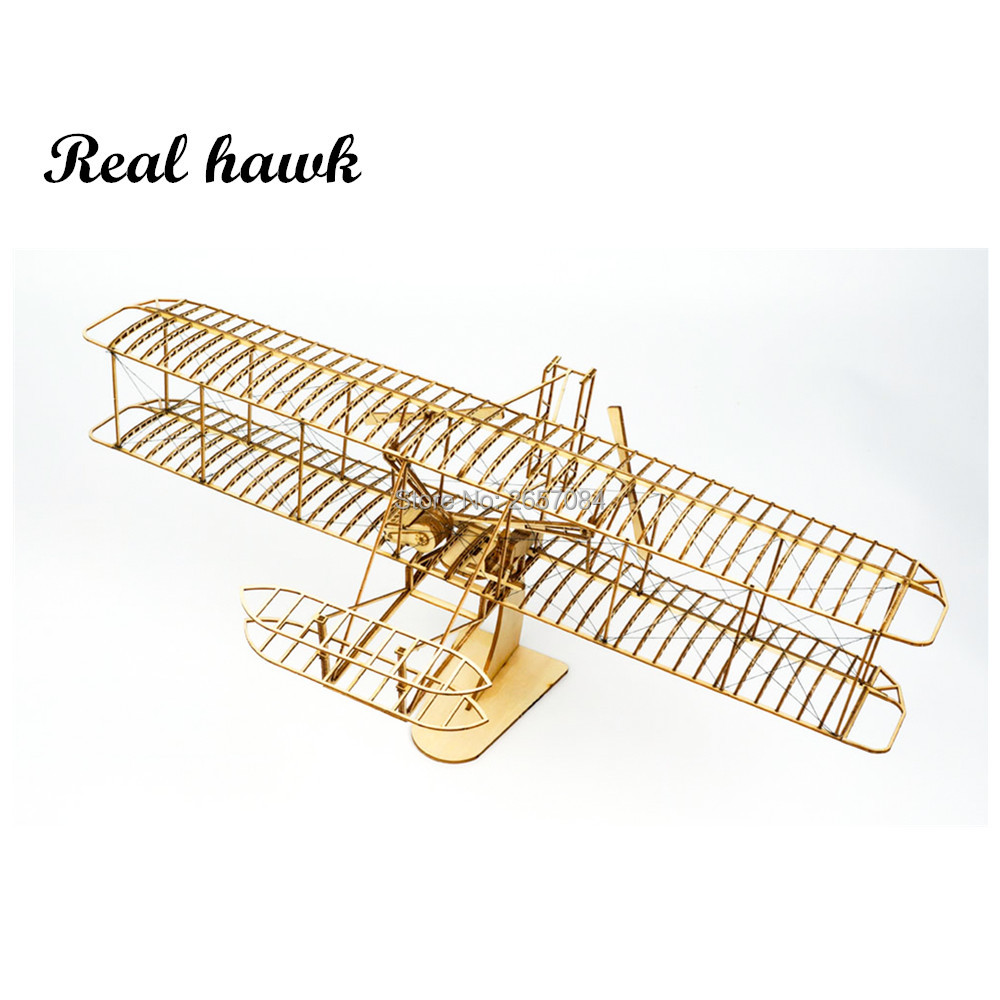 Wooden Toys Building Toys DIY Wood Christmas Toys Craft Wood Furnishing Christmas Gift Present Wright Brothers Flyer I
