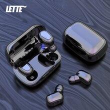 L21 auriculares TWS, inalámbricos por Bluetooth v5.0, auriculares duales de graves para teléfonos móviles