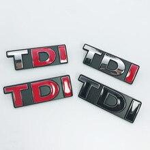 цена на 1pcs metal TDI car grill stickers Badge Auto Emblem Badge car styling for Volkswagen Golf Passat Lamando SAGITAR MAGOTAN POLO