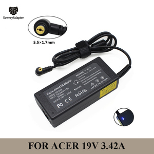 19V 3.42A 65W 5.5x1.7mm AC Adapter Charger for Acer Aspire 5315 5630 5735 5920 5535 5738 6920 7520 notebook Laptop power supply