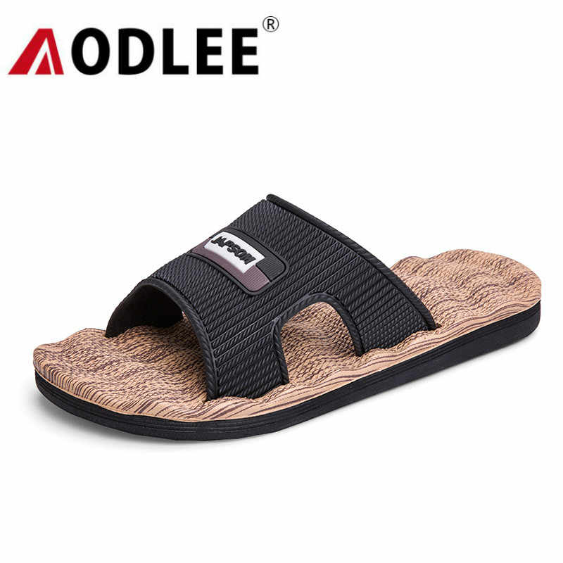 Strand Mannen Slippers Outdoor Mode Plus Size Toevallige Slippers Mannen Zachte Non-Slip Comfortabele Sandalen Slippers Dropshipping Aodlee