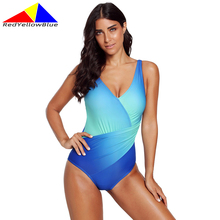 wholesale three piece swimming suit for women maillot de bain tankini high waisted bathing suits girls swimwear dress 2016056 2020 One-Piece Suits Sexy Bathing Swimming Suit Gradient color Women Swimwear Swimsuit Monokini Gradient Maillot De Bain Feminin