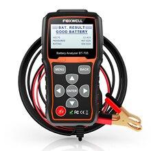 FOXWELL BT705, tester akumulatora, urządzenie do testowania aut/ciężarówek, 12 24 V, urządzenie diagnostyczne do testowania rozruchu i ładowania samochodu