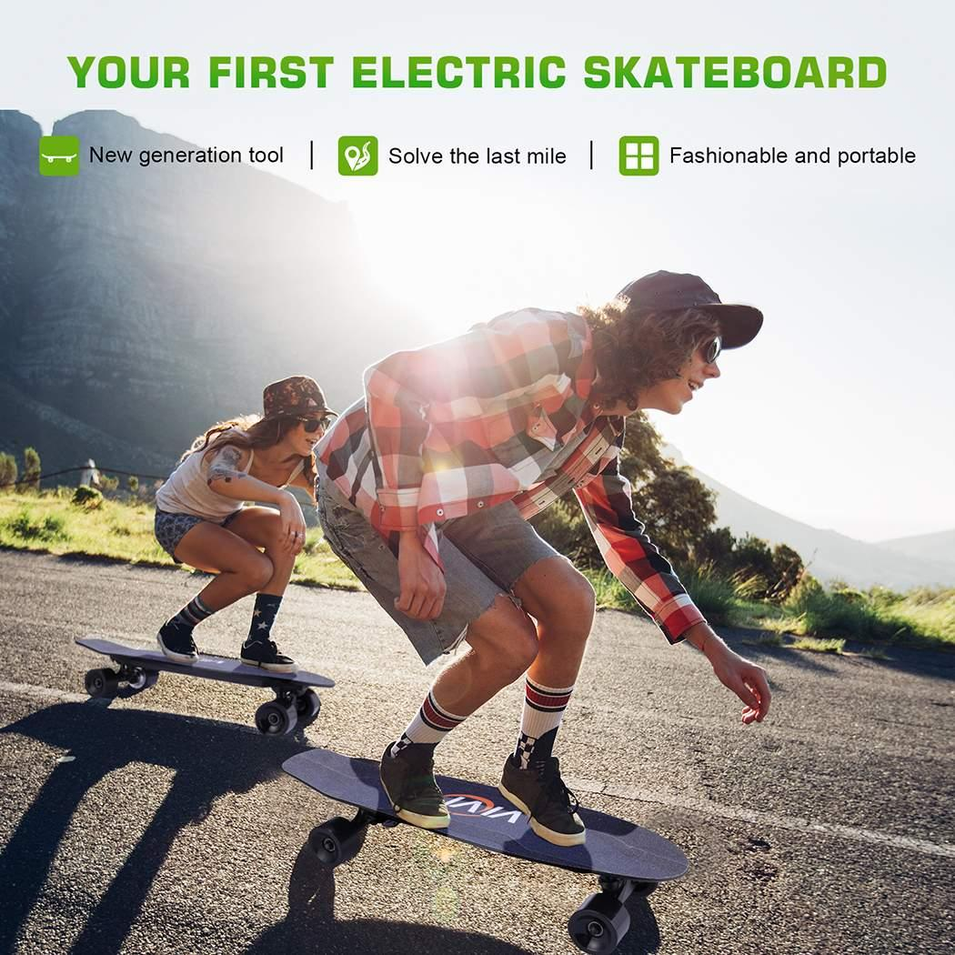 Electric Skateboard 10 MPH Top Speed 350W 8 Miles Max Range with Remote Control 27.6x7.1x5.5inch 2