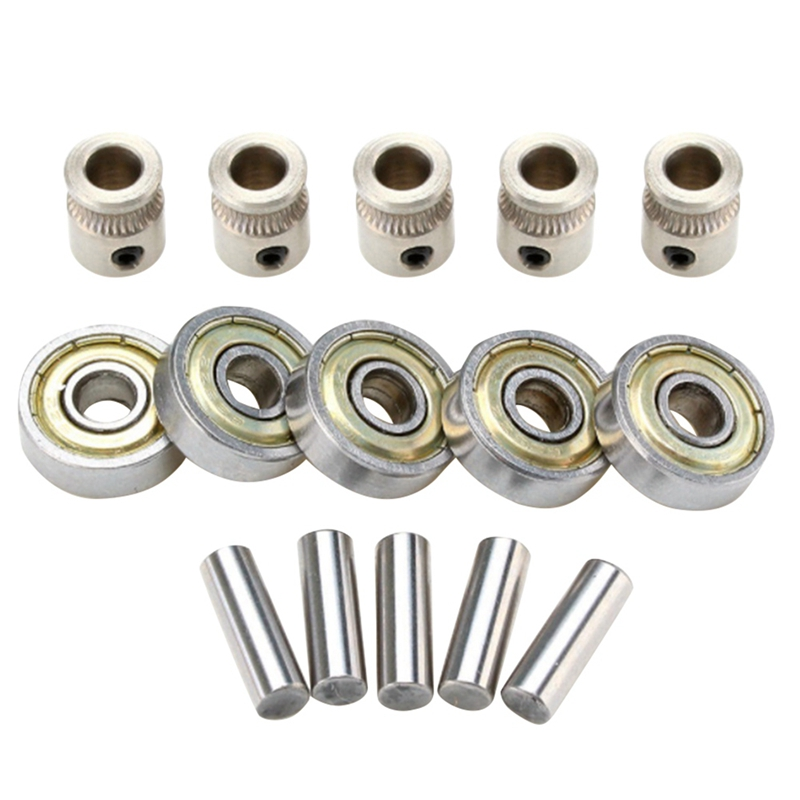 New 3D Printer Extruder Gears 625ZZ Bearings Shafts Kit For Mk3 MMU2 Ball Bearing Set Prusa I3 MK2.5/MK3 Multi Materials 2.0