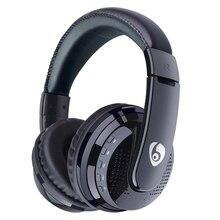 فوق الأذن باس سماعات بلوتوث ستيريو سماعات رأس لاسلكية دعم مايكرو SD بطاقة راديو ميكروفون