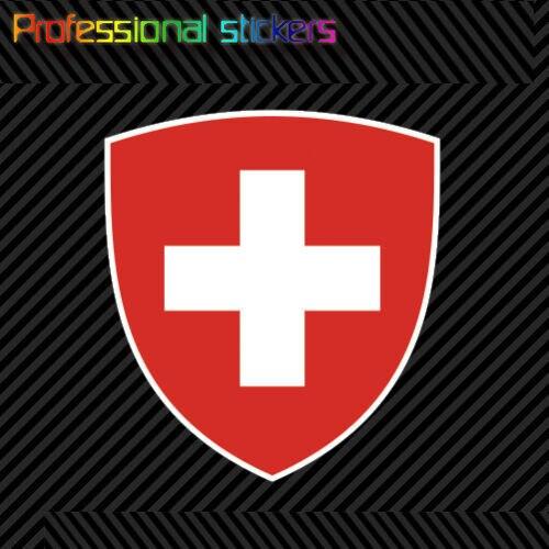 Thụy Sĩ Áo Khoác Miếng Dán Decal Tự Dính Vincy Thụy Sĩ Cờ Chế CH Dán Cho Xe Ô Tô Xe Đạp, máy Tính Xách Tay, Motos