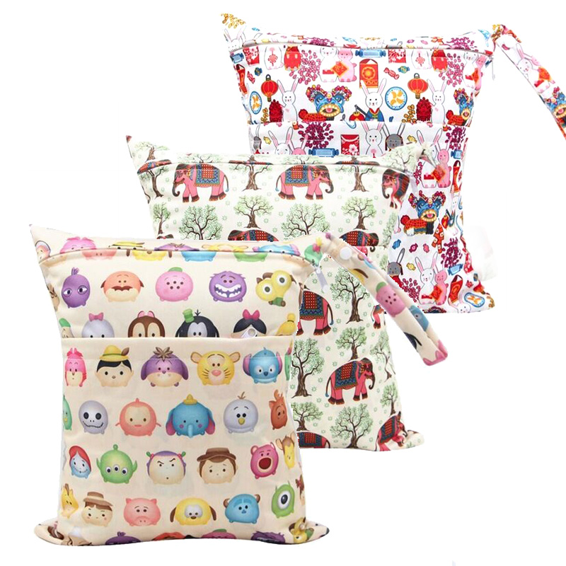 Carry-Bag Reusable-Cloth-Diaper Loss-Promotion Washable Travel Wet Baby Swim Sport Waterproof