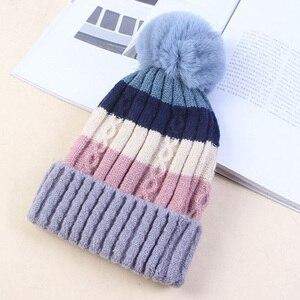 Image 4 - Di inverno lavorato a maglia cappelli per Le Donne Cappelli Lavorati A Maglia di Inverno Berretti Cappelli Berretti Donne Tappi Femminili Delle Donne di Inverno Delle Donne Cappello Caldo di Inverno