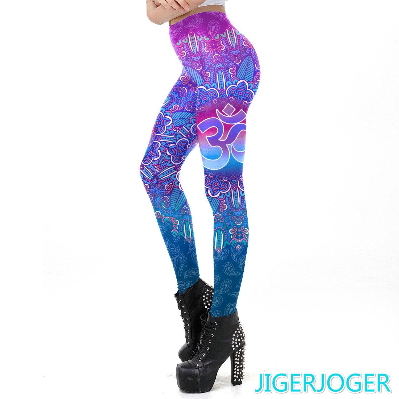 Jigerjoger Pink Biru Om Dicetak Yoga Legging Ombre Gym Legging Pantalones Mujer Cintura Alta Yoga Celana Gratis Drop Pengiriman Yoga Pants Aliexpress