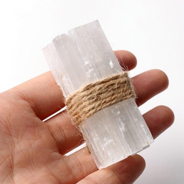 10pcs natural white selenite crystal stick chips gypsum quartz rough minerals specimen point healing stone