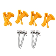 4Pcs Car Underbody Underride Protection Screw Bracket Replacement A0019913970 for Smart 450 MC01