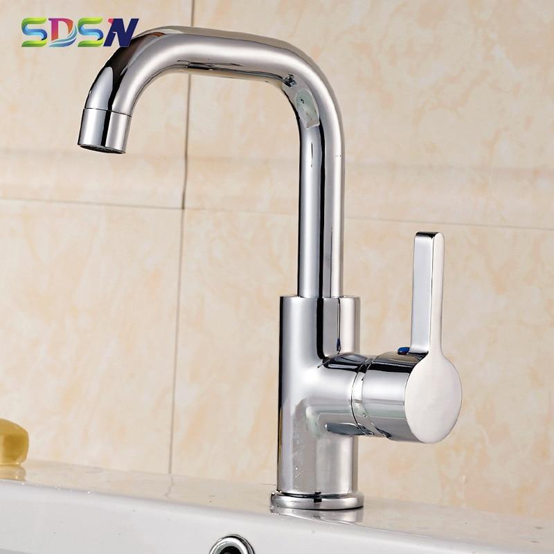 Chrome Kitchen Faucets SDSN Quality Zinc Alloy Kitchen Sink Faucet 360 Rotation Kitchen Mixer Tap Polished Chrome Kitchen Faucet