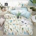 Комплект постельного белья Lanlika Cactus  простой домашний текстиль  пододеяльник  простыня  пододеяльник  Комплект постельного белья