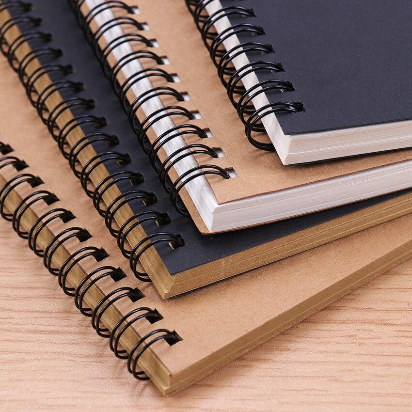 Sketchbook günlüğü çizim boyama grafiti yumuşak kapak siyah kağıt Sketchbook not defteri dizüstü ofis okul malzemeleri 1 adet