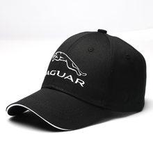 Boné de beisebol ao ar livre criativo masculino feminino algodão padrão bordado carro emblema para jaguar acessórios de automóvel chapéu de corrida lembrança