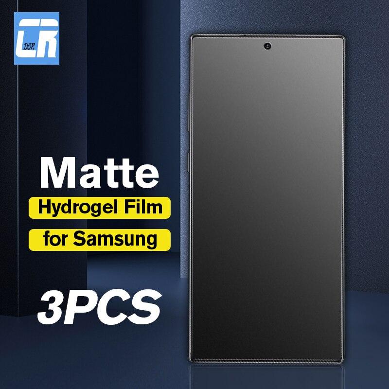 1-3PCS No Fingerprint Matte Hydrogel Film For Samsung Galaxy Note 10 9 8 S20 S10 S9 S8 Plus S20 Ultra Screen Protector Soft Film