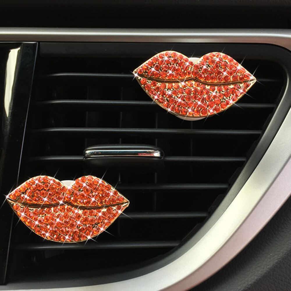 Perfumado perfume clipe de Saída de Ar do carro Desabafar Perfume Lábios Clipe Ambientador Difusor de Ar automotivos ambientador carro perfume clipe