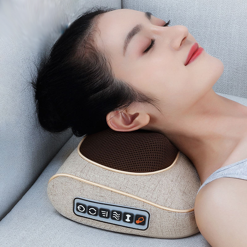 United Portable Small Neck Massage Pillow Electric Multi-function Infrared Heating Massager Tools To Slow Down Spinal Pain Lustrous Surface