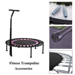 Бесшумный мини- батут , складная ручка , прыжки, упражнения, фитнес, крытый батут, банджи, прыжки, кардио, тренажер , кровать