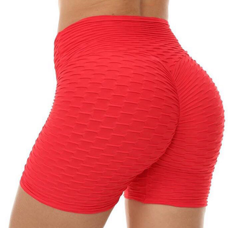 Summer Women Fitness Shorts Scrunch High Waist Shorts Women Booty Sexy Shorts Femme Stretchy Biker Mujer Fold Push Up Sports