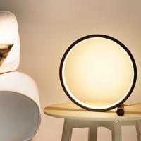 LED Tisch Lampe Rund Schreibtisch Lampe Touch/Taste Schalter Dimmbare Nacht Lampe Schwarz/Weiß Runde Nacht Licht für schlafzimmer Studyroom