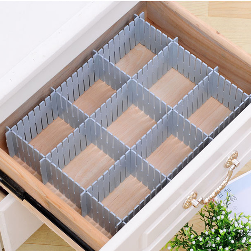 Plastic Drawer Divider DIY Grid Divider Household Storage Storage Box Underwear Socks Grid Sorting Grid Free Combination
