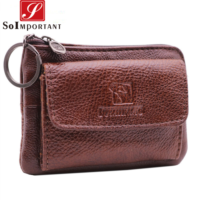 Vintage Cheapest Genuine Leather Wallets Women Coin Purse Female Small Men Magic Money Bags ZCard Pouch Lady Zipper Key Holder