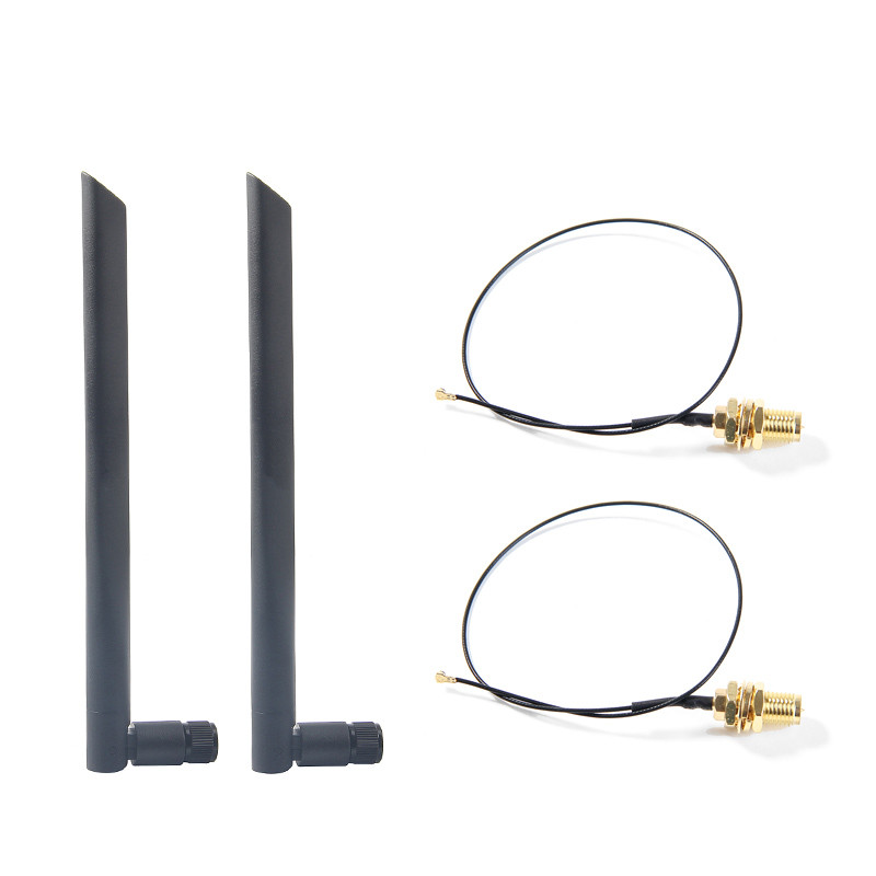 Dual band 6dbi Wireless WiFi Antenna RP-SMA   MHF4 IPX Pigtail Cable for AX200 AC9260 NGFF M 2 Wireless card WIFI WLAN Modules