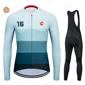 2020 Pro Team Winter Long Sleeve Cycling Jersey Set MTB Bike Clothing Uniform Men's Thermal Fleece Bicycle Maillot Ropa Ciclismo gobikful women s cycling jersey set pro team keep warm long sleeve mtb bike clothes wear bicycle cycling clothing ropa ciclismo
