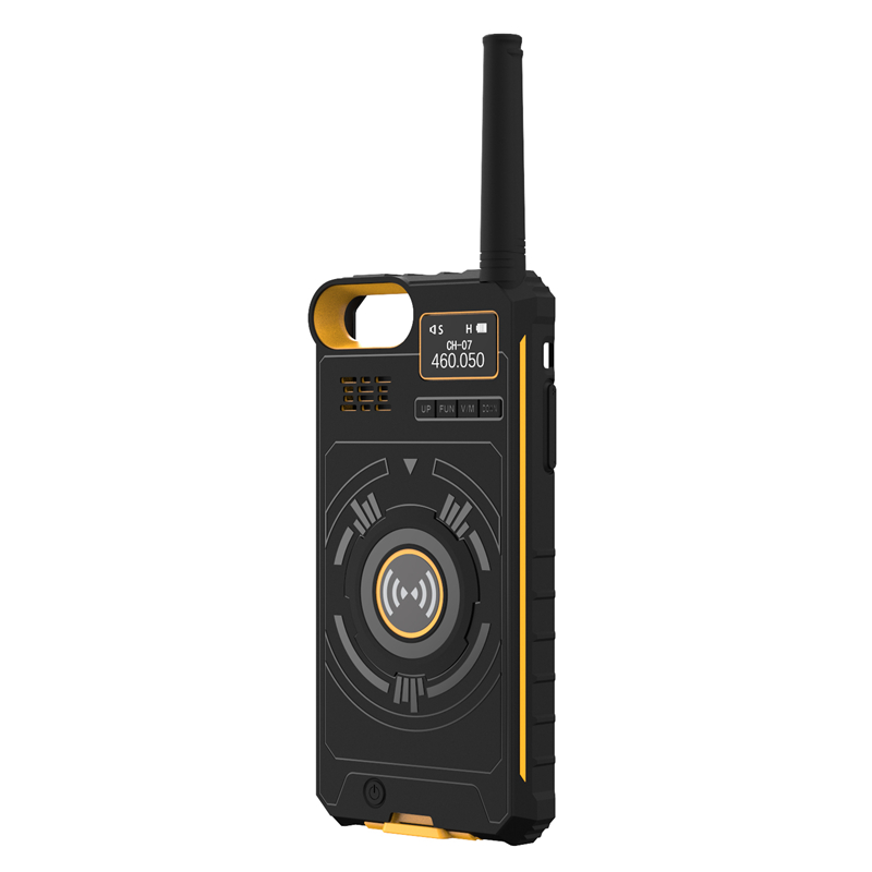 DTNO.I NO.1 IP01 3 In 1 400-470MHZ UHF Interphone Outdoor Walkie Talkie+Power Bank+Phone Case For IPhone X /5.5 / 4.5 Inch Phone