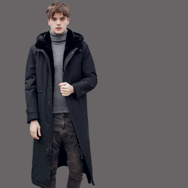 Real Fur Coat Natural Mink Fur Coat Winter Jacket Men Goose Down Jacket Warm Parkas Plus Size Jackets Casaco 18026 YY1087