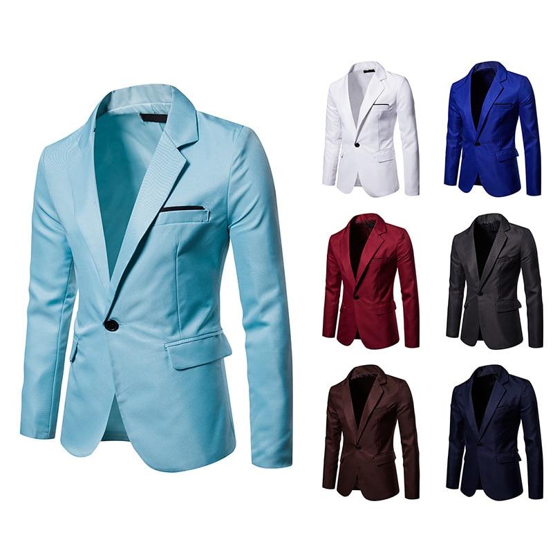 Mens Blazer Jacket Smart Casual Suit Men Clothes 2020 New Arrival Blazer