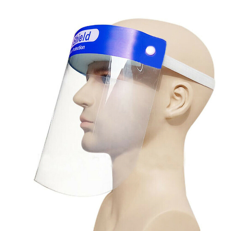 Fast Delivery 10pcs Transparent Face Mask Splash-proof Windproof Head-mounted Adjustable Full Face Mask Easy To Wash