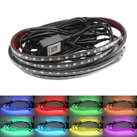 Car Bottom Atmosphere Lamp RGB Led Neon Chassis Strip Bar Ambient Light APP/Remote Control Decorative Auto Universial