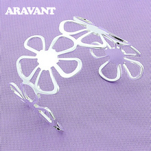 Bangles Jewelry Open-Bracelet Flower Gifts Wedding-Engagement 925-Silver Women Big