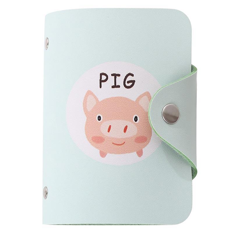1Pc PU Leather Cute Printing Cartoon Card Purse Fashion Cute Cartoon Animal Creative Card Wallet Card Holder Children's Gift