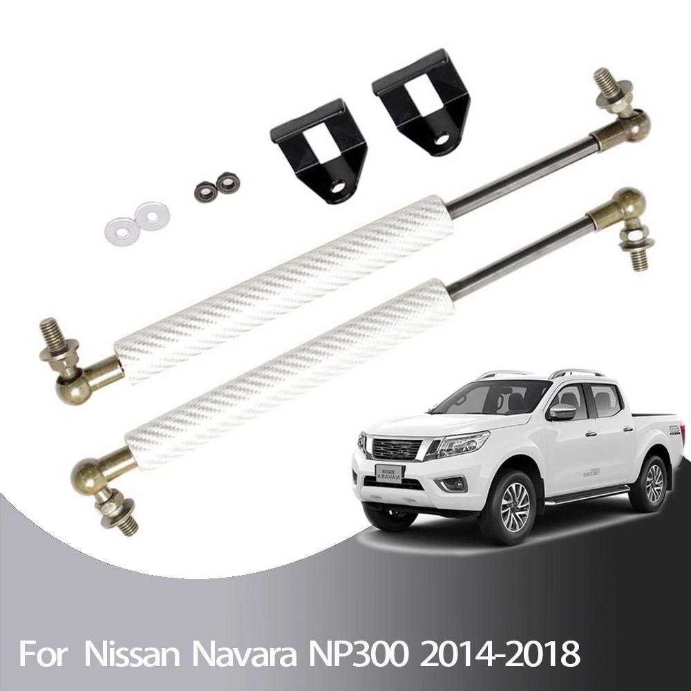 สำหรับ Nissan NP300 NAVARA สำหรับ Renault Alaskan สำหรับ Mercedes Benz X Class 2014 2019 ด้านหน้า Hood Bonnet modify แก๊ส Struts Lift Support-ใน แท่นค้ำ จาก รถยนต์และรถจักรยานยนต์ บน XS Automobiles & Motorcycles Parts Store