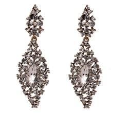 Korean Earrings for Women Luxury Earings Tassel Drop Fashion Jewelry Clear Cz Crystal