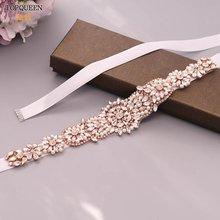 Topqueen s445 розовое золото Свадебные ремни свадебные аксессуары