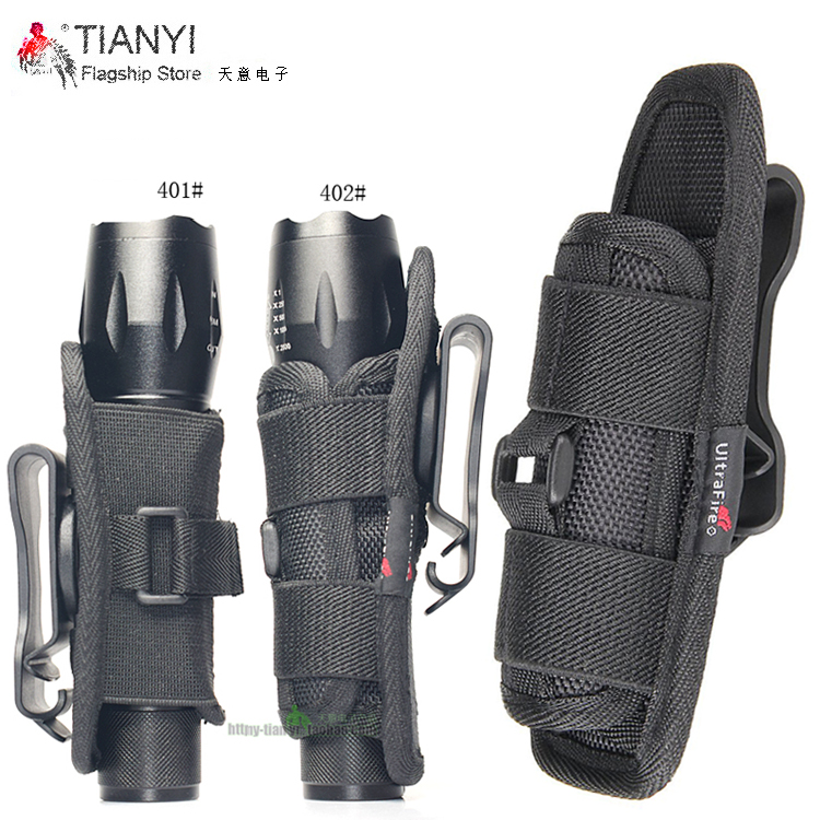 Flashlight Holster Baton Holder Nylon Duty Flashlight Holder Belt Carry Case For Tactical Flashlights (2PCS)